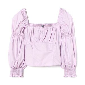 H&M   DIVIDED Lilac Puff Sleeve Blouse